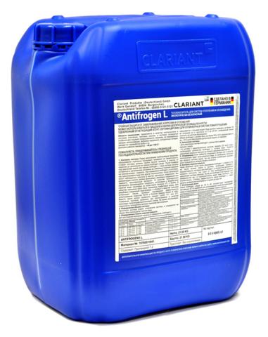 Clariant Antifrogen L 20 л - пропиленгликоль теплоноситель для систем отопления синий
