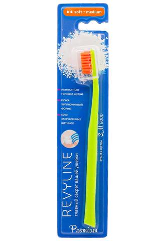 Зубная щетка Revyline SM6000, Ревилайн, soft, medium Ревелайн, салатовый