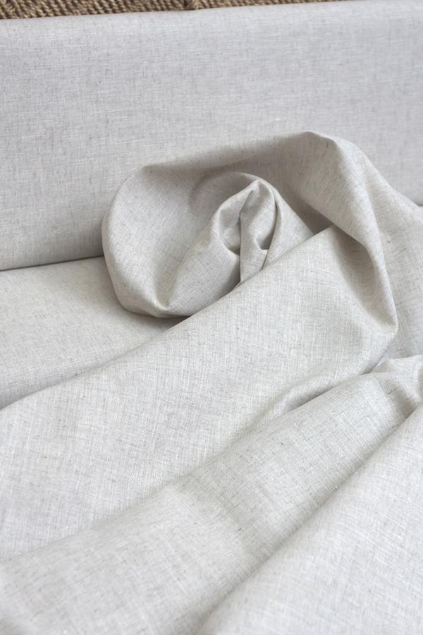 Ткань льняная, цвет светло-натуральный меланж