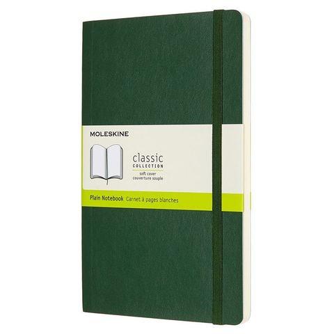 Блокнот Moleskine CLASSIC SOFT QP618K15 Large 130х210мм 192стр. нелинованный мягкая обложка зеленый