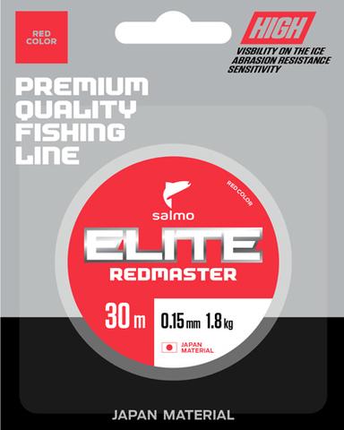 Леска монофильная зимняя Salmo Elite REDMASTER, 30м, 0.08мм