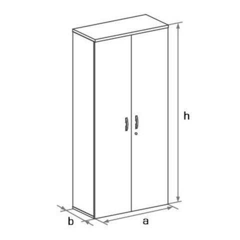 Шкаф закрытый высокий с 2-мя глухими дверцами БОСТОН