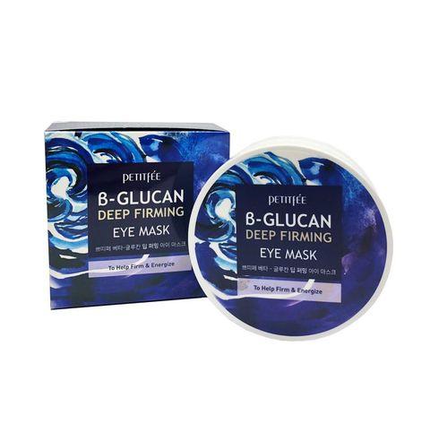 Petitfee Укрепляющие тканевые патчи с бета-глюканом B-Glucan Deep Firming Eye Mask 60 шт.