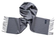 Шерстяной шарф серый 00301
