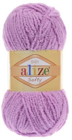 Пряжа Alize SOFTY 672 неж.сиреневый