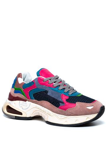 Комбинированные кроссовки Premiata Sharky-d 006 на шнуровке