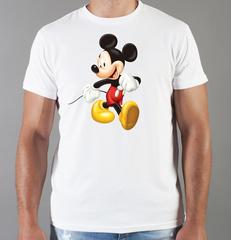 Футболка с принтом Микки Маус (Mickey Mouse) белая 005