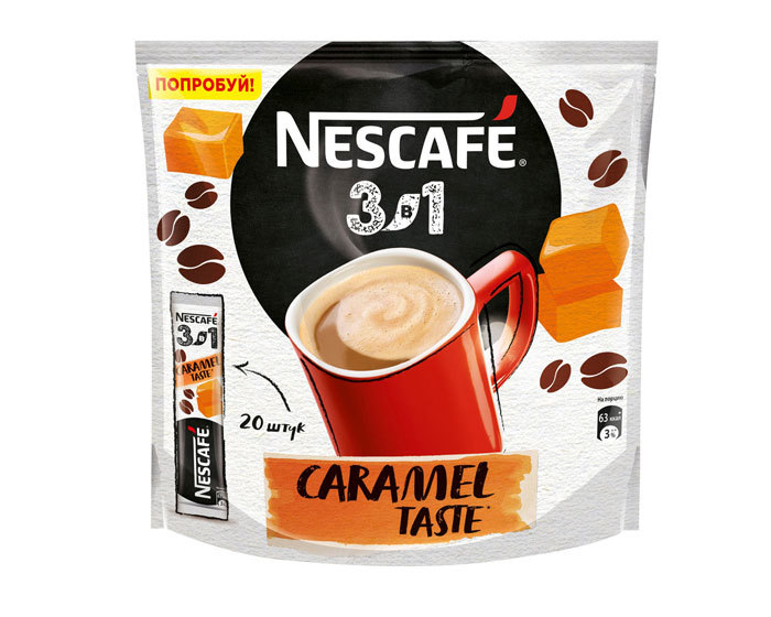 купить Кофе растворимый Nescafe Classic карамельный 3 в 1