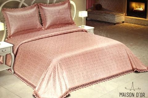 Покрывало с наволочками Versam Maison Dor грязно-розовое