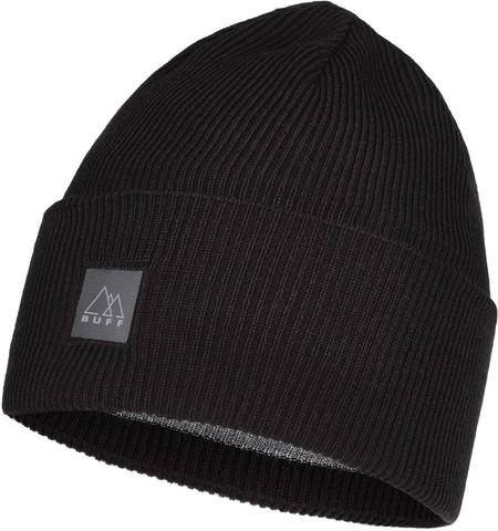 Шапка Buff Crossknit Hat Solid Black фото 1