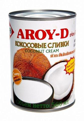Кокосовые сливки Aroy D 70% кокоса, 20-22% жирности - 560 мл - ж/б