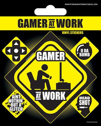 Набор стикеров Gamer at work