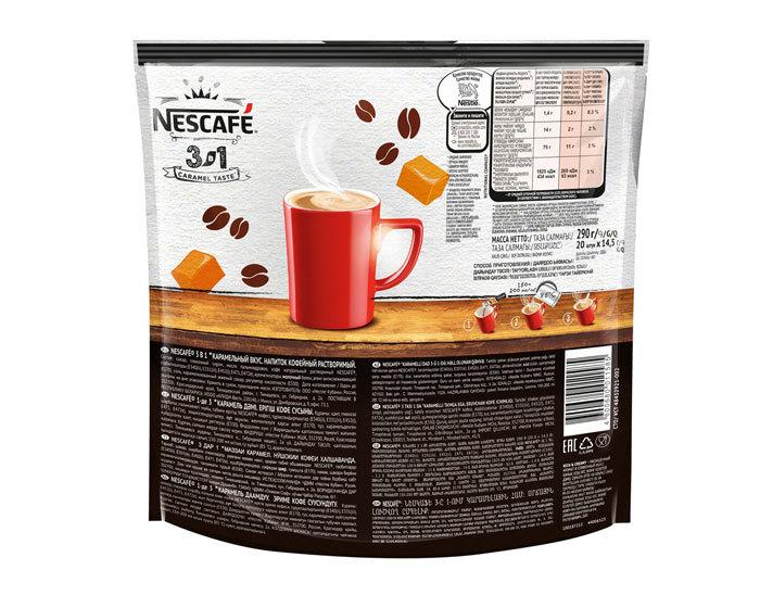 цена Кофе растворимый Nescafe Classic карамельный 3 в 1