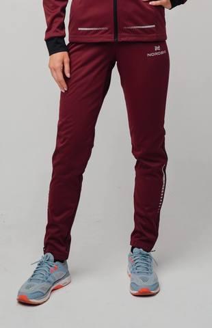 Разминочные брюки Nordski Pro wine W женские