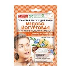 Маска для лица Народные Рецепты медово-йогуртовая тканевая, 25 мл Другие бренды