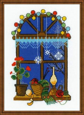 Набор для вышивания крестом «Зимнее окошко» (1592)
