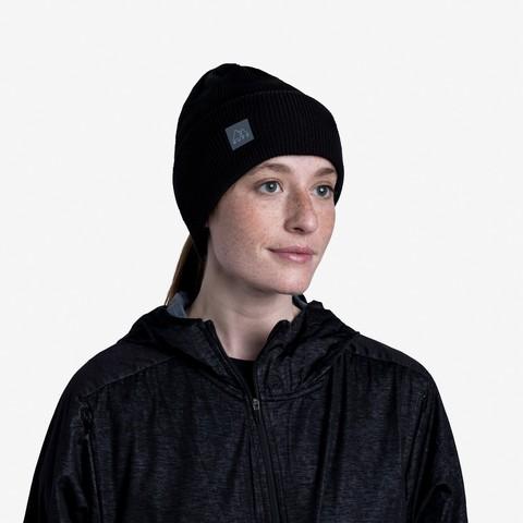 Шапка Buff Crossknit Hat Solid Black фото 2