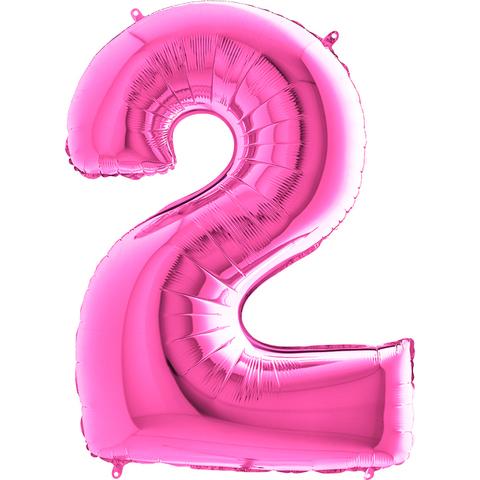 Цифра 2 (Розовая)
