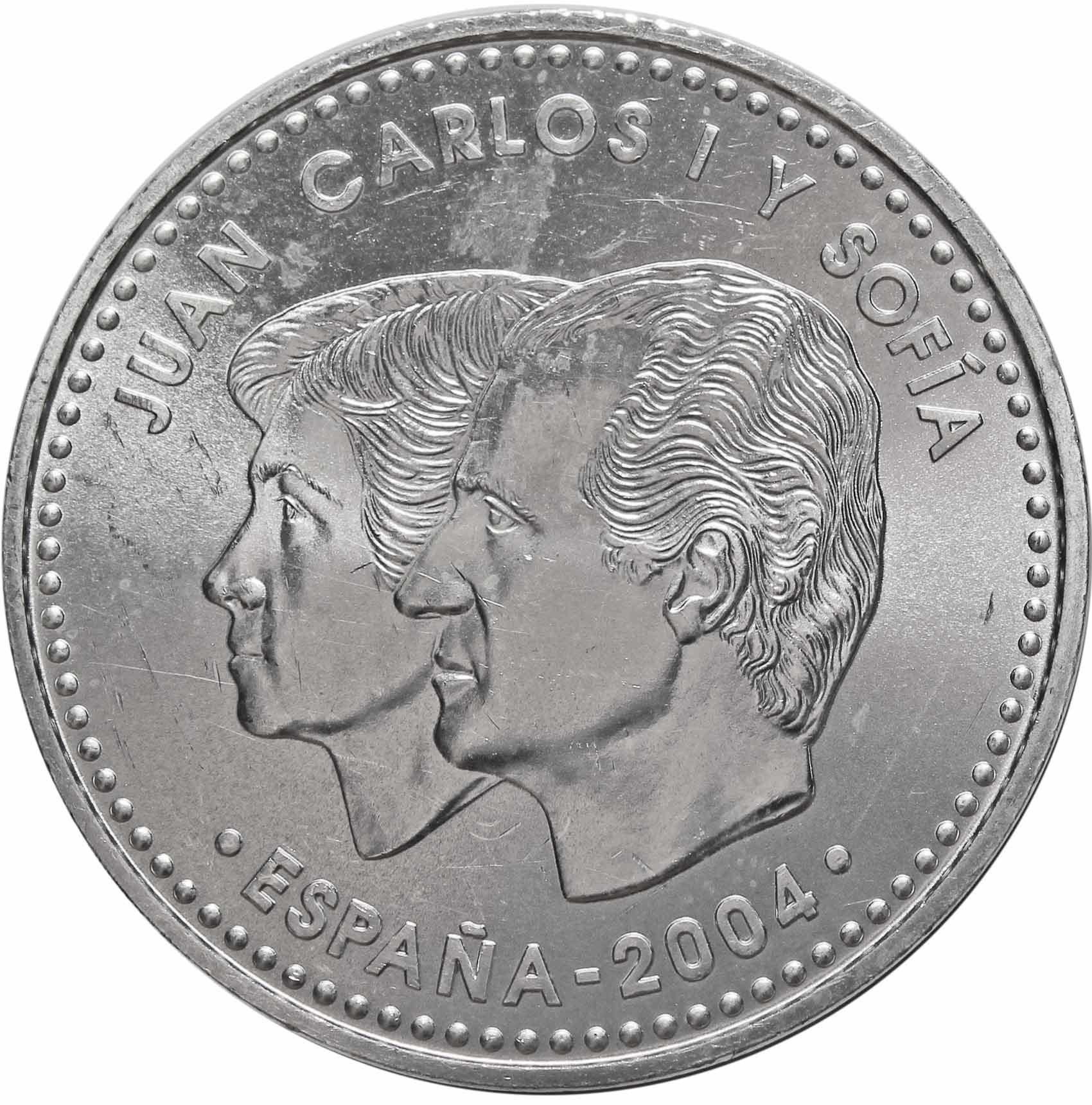 12 евро. 500 лет со дня смерти Изабеллы I. Испания. Серебро. 2004 г. AU
