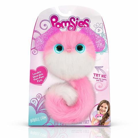 Pomsies BubbleGum puppy, интерактивный розовый щенок Помси