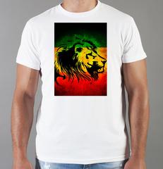 Футболка с принтом Боб Марли (Bob Marley) белая 002