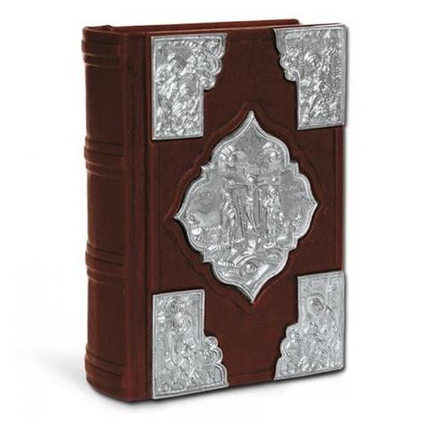 Святое Евангелие с литьем, покрытым серебром