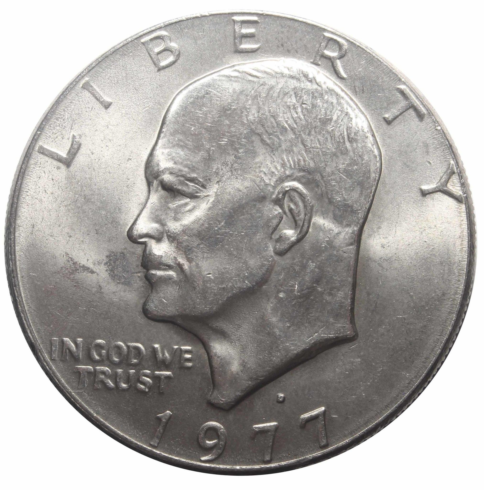 1 доллар 1977 США Эйзенхауэр (D) XF (Лунный)