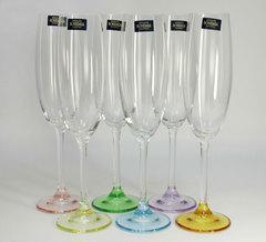 Набор из 6 цветных фужеров для шампанского Gastro Арлекино, 220 мл, фото 2