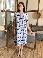Ліна. Літнє плаття великих розмірів. М'ята
