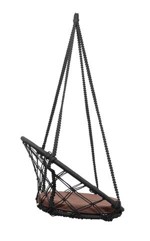 Складное кресло-кокон AOSTA + коричневая подушка