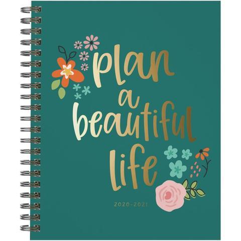 Ежедневник на пружине-  Carpe Diem Spiral 17-Month Dated Weekly Planner - 18х22 см -Beautiful Life