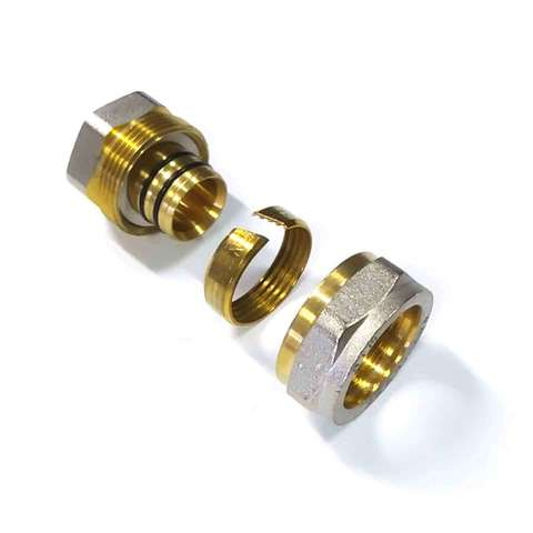 Муфта обжимная для металлопластиковых труб 26*3/4 внутренняя резьба, Valve