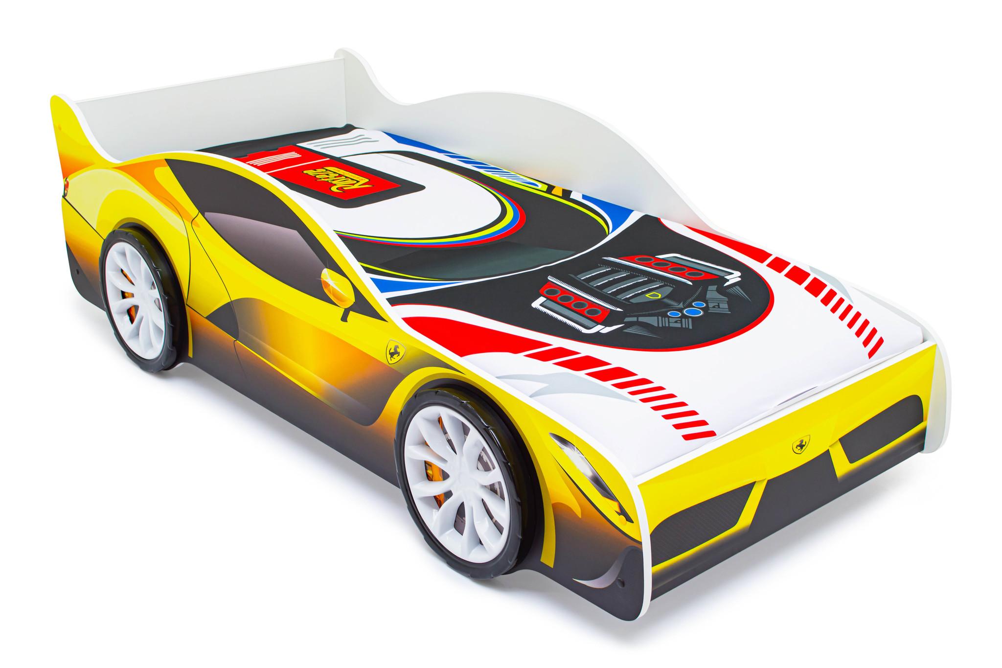 Кровать-машина «Феррари» с подъемным механизмом