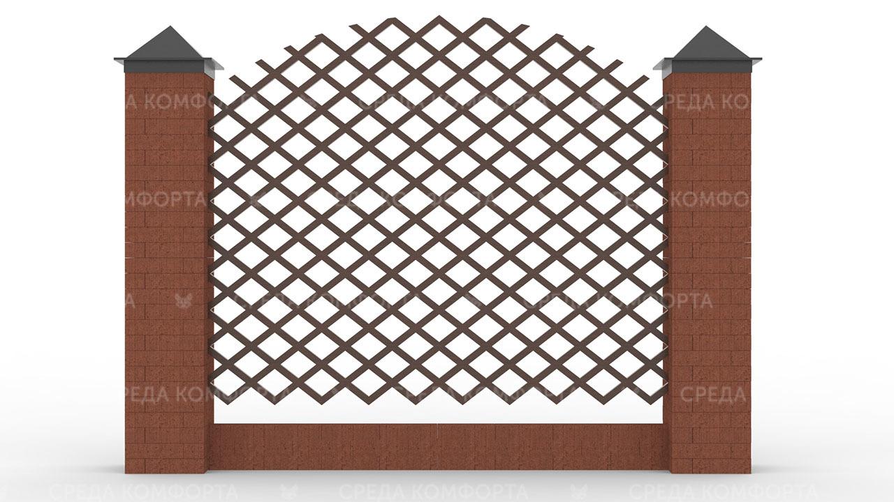 Деревянный забор ZBR0111