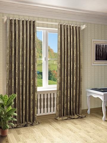 Готовые шторы Оливия коричневый