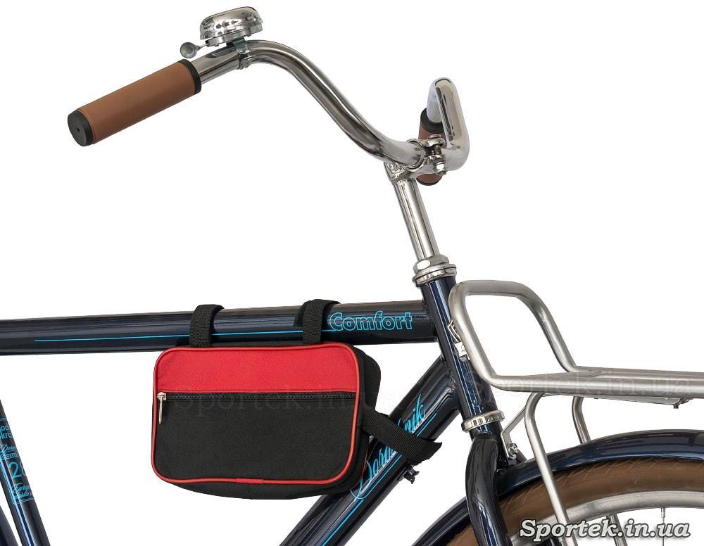 Велосумка на рамі велосипеда