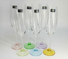 Набор из 6 цветных фужеров для шампанского Gastro Арлекино, 220 мл, фото 3
