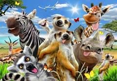 Добро пожаловать в Африку от Wooden City - Деревянный пазл, позитивный и яркий с деталями разных формы. Веселая картинка с животными из Африки, детский пазл