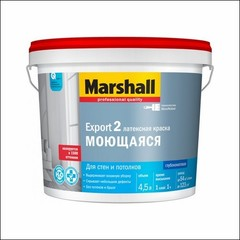 Краска латексная для стен и потолка Marshall EXPORT-2 BC (Прозрачный)