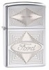 Зажигалка Zippo Ford, латунь с покрытием High Polish Chrome, серебристая, глянцевая, 36х12x56 мм