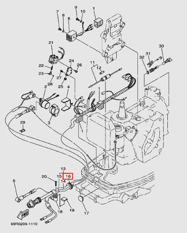 Держатель проводов для лодочного мотора Т30 Sea-PRO (9-16W)
