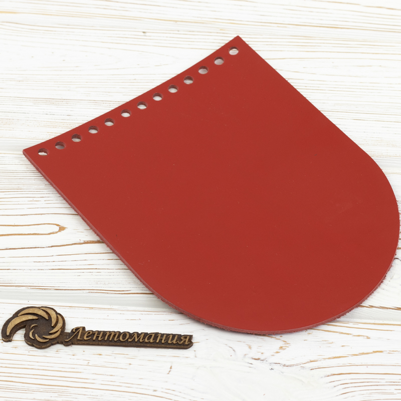 """Распродажа Клапан для сумочки кожаный  """"Красный"""" 15,5*19,5 см IMG_7409.jpg"""