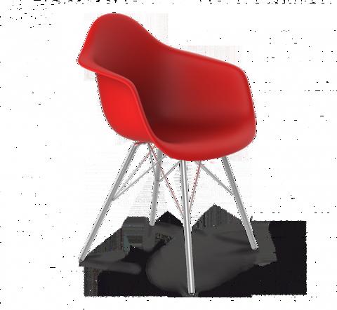 Кресло Eames S62 (красный/хром-лак)