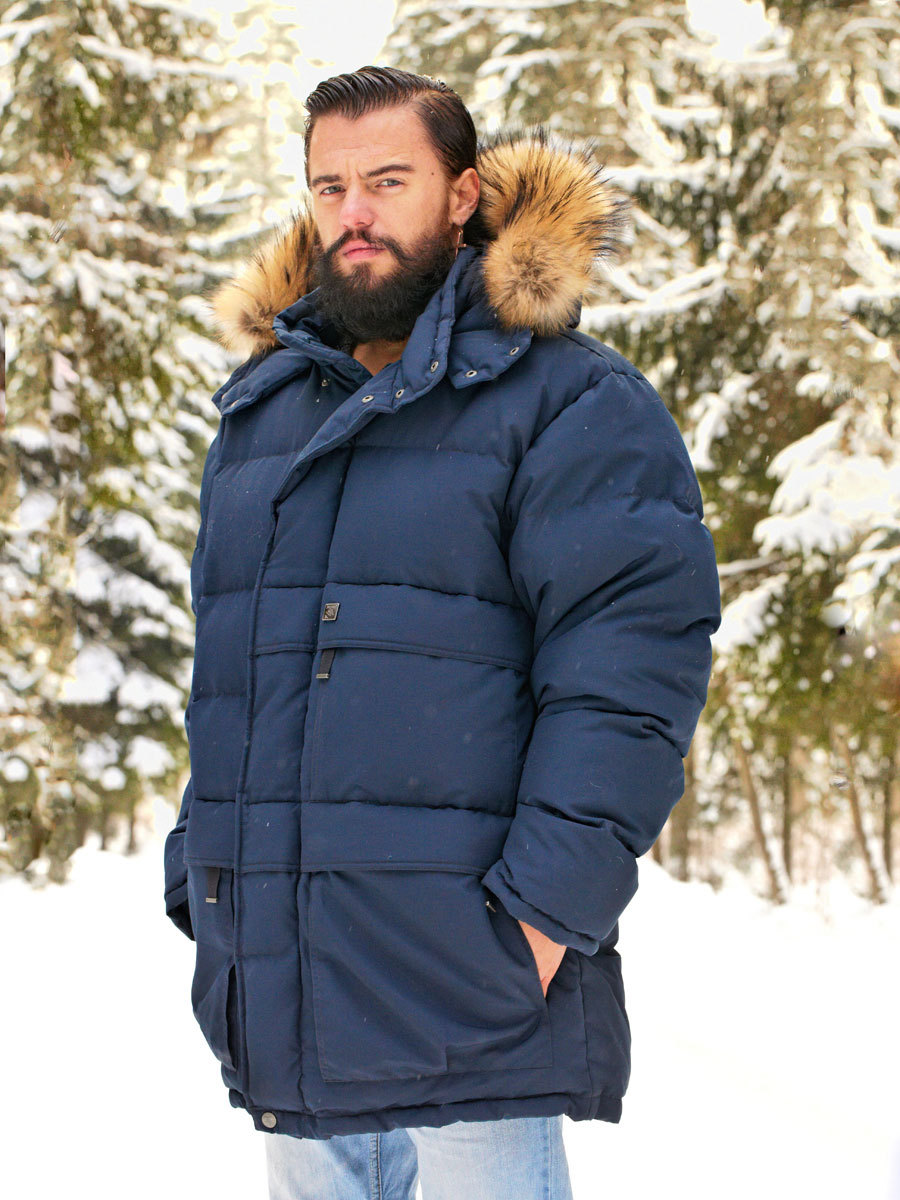 Joutsen пуховик Arctic темно-синий