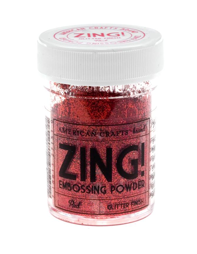 Пудра для эмбоссинга ZING! Red Glitter