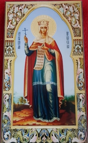 Икона святая Елена на дереве на левкасе мастерская Иконный Дом