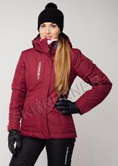Премиальная теплая лыжная куртка Nordski Mount Wine женская