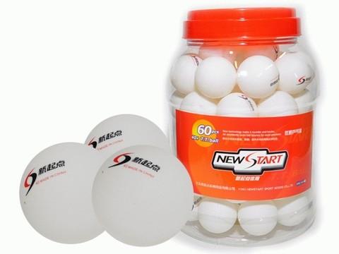 Шарики для настольного тенниса (пластик). В банке 60 шт: ABS60