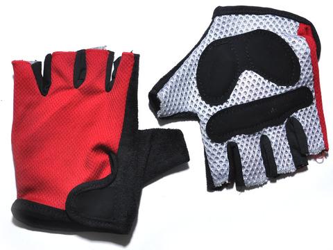 Перчатки для велосипедистов. Материал: синтетическая ткань, сетка. Размер L.  JZ-3823