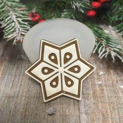 Молд « Новогоднее печенье Снежинка-2»